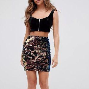 ASOS Missguided Sequin Mini Skirt
